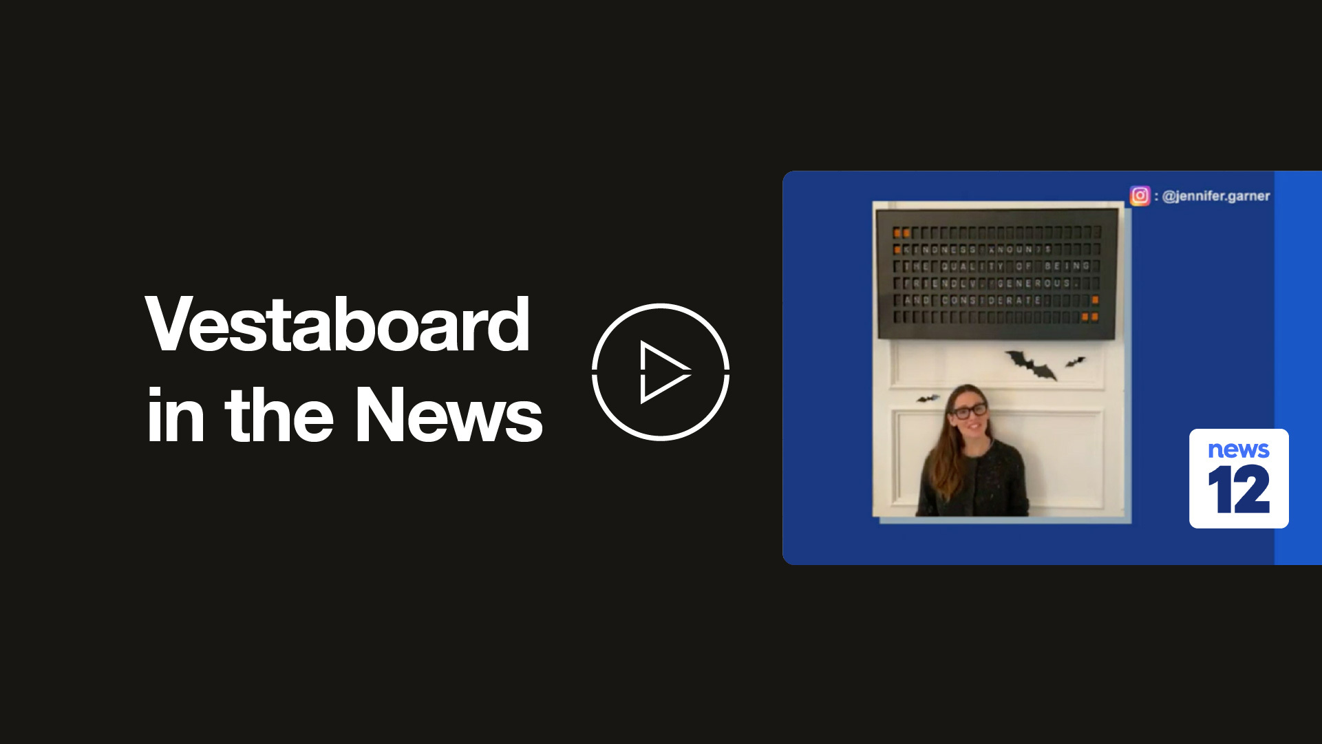 Vestaboard in the news video thumbnail click to play